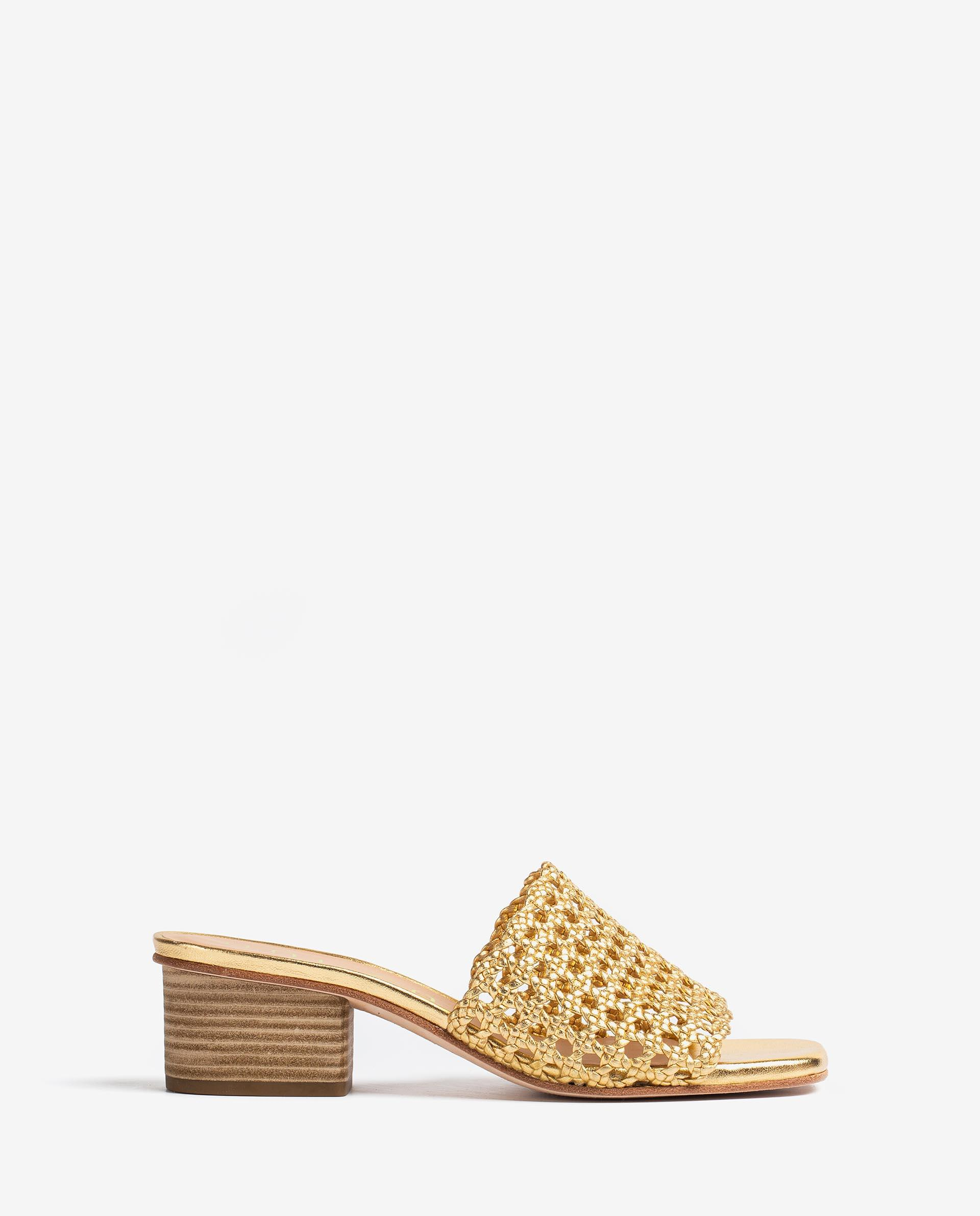 UNISA Square toe metal effect leather mules KOLY_LMT 2