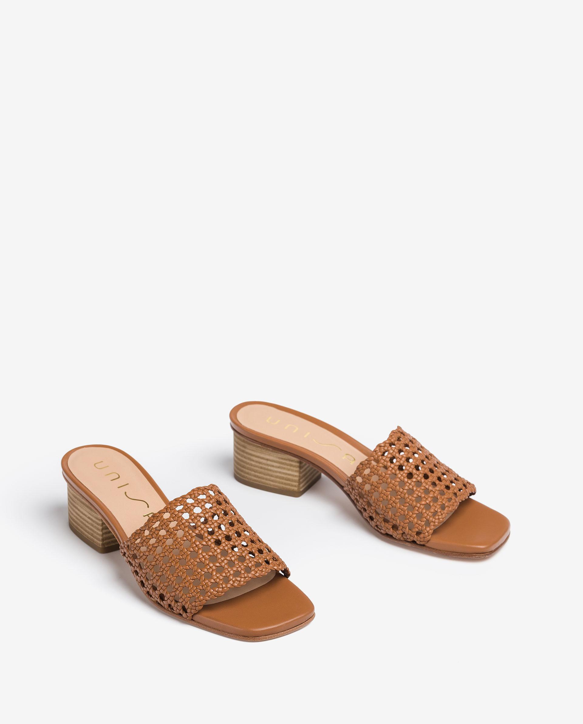 UNISA Square leather mules KOLY_NA 2