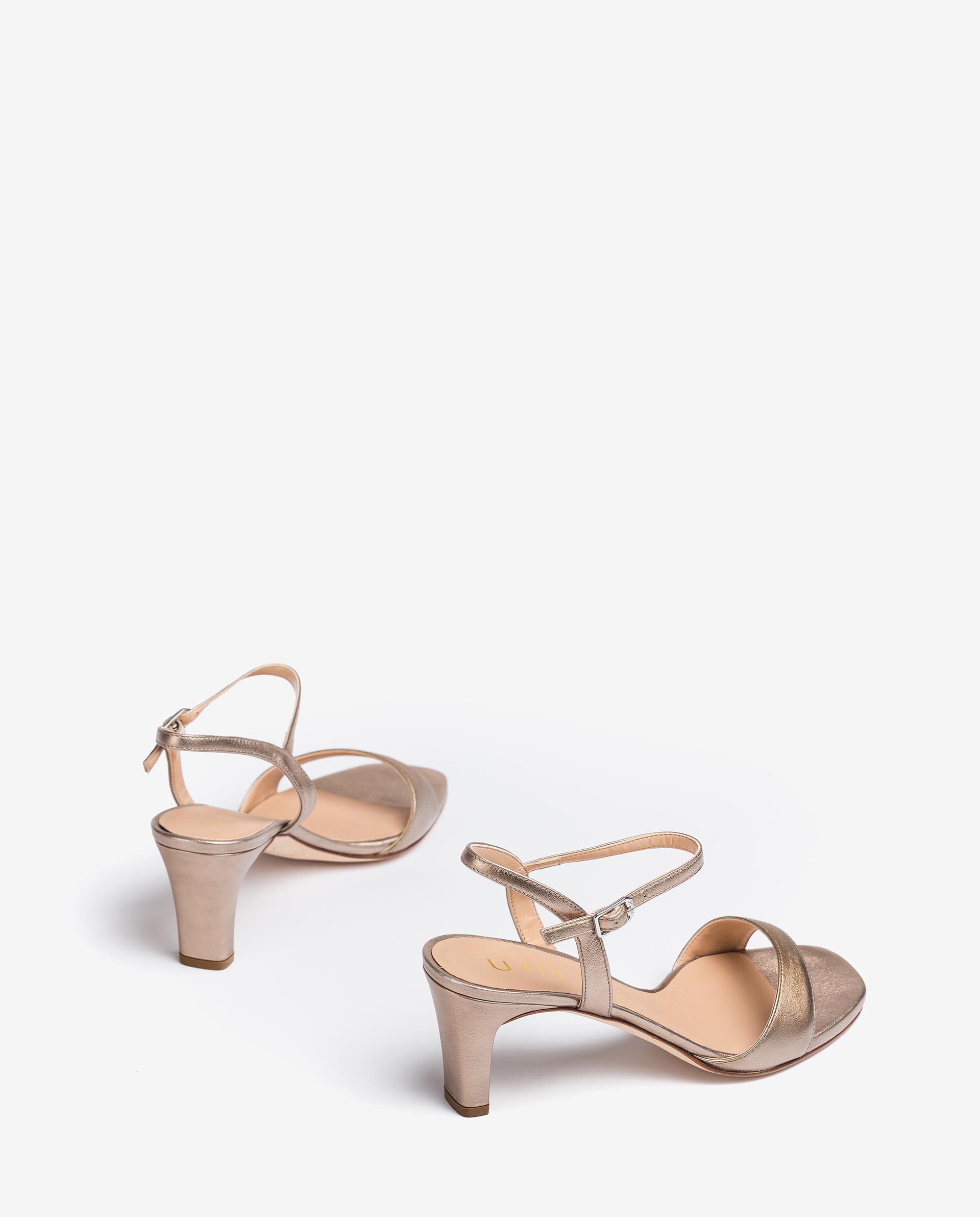 UNISA Metal effect leather sandals MECHI_21_LMT 2