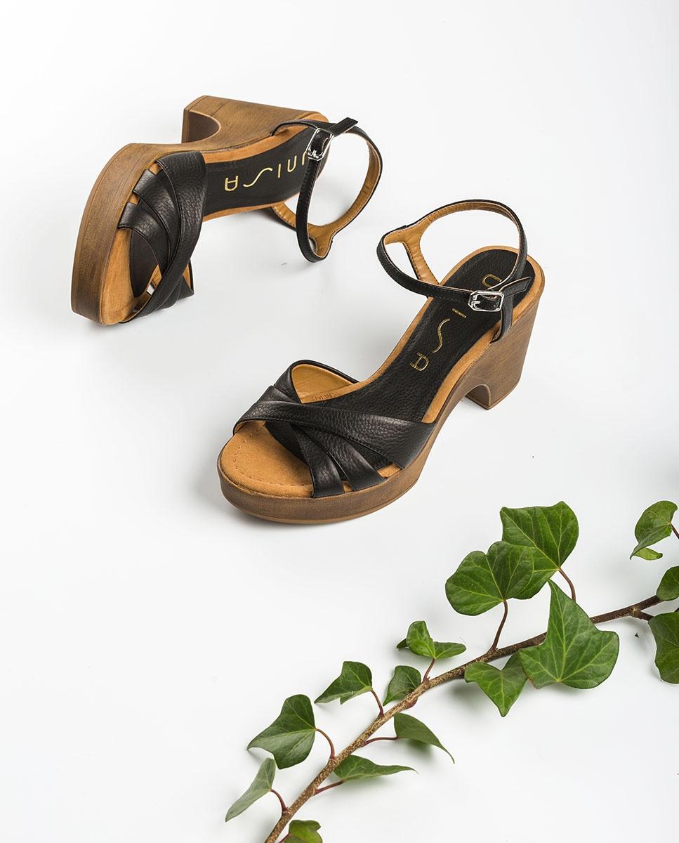 UNISA Leather block sandals ONETA_STY black 2