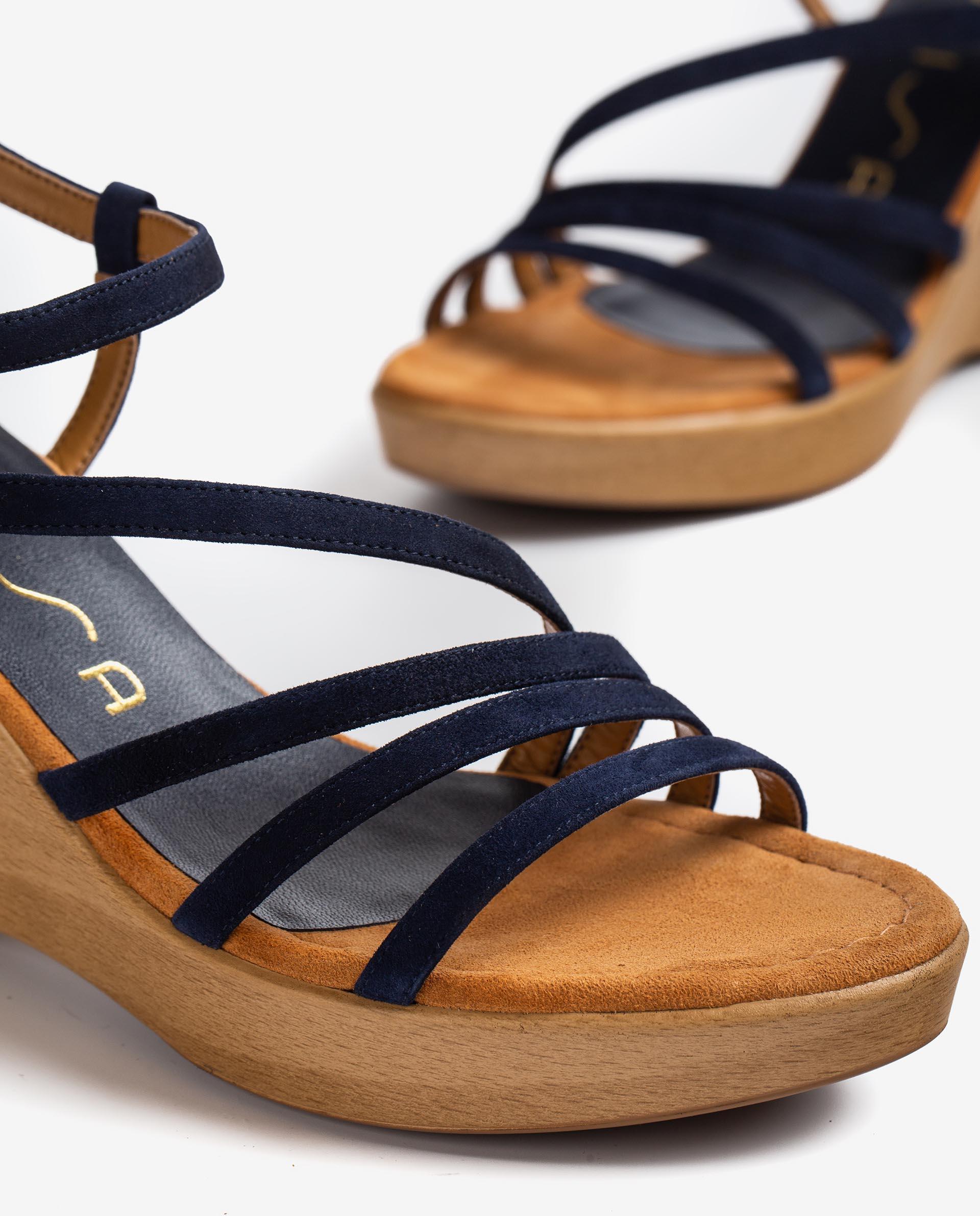 UNISA Kid suede sandals with instep-ankle strap RABAL_KS 2