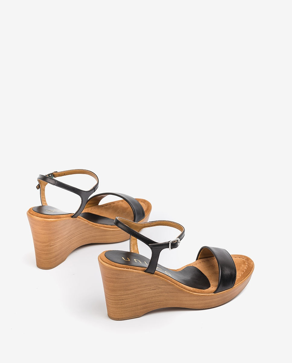UNISA Leather block sandals RITA_20_NA black 2