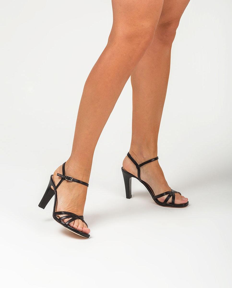 UNISA Leather straps heel sandals SANTA_NA black 2