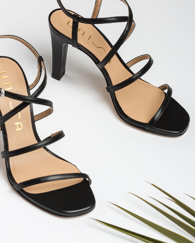 UNISA Multi-straps heel sandals SIMO_20_NA black 2