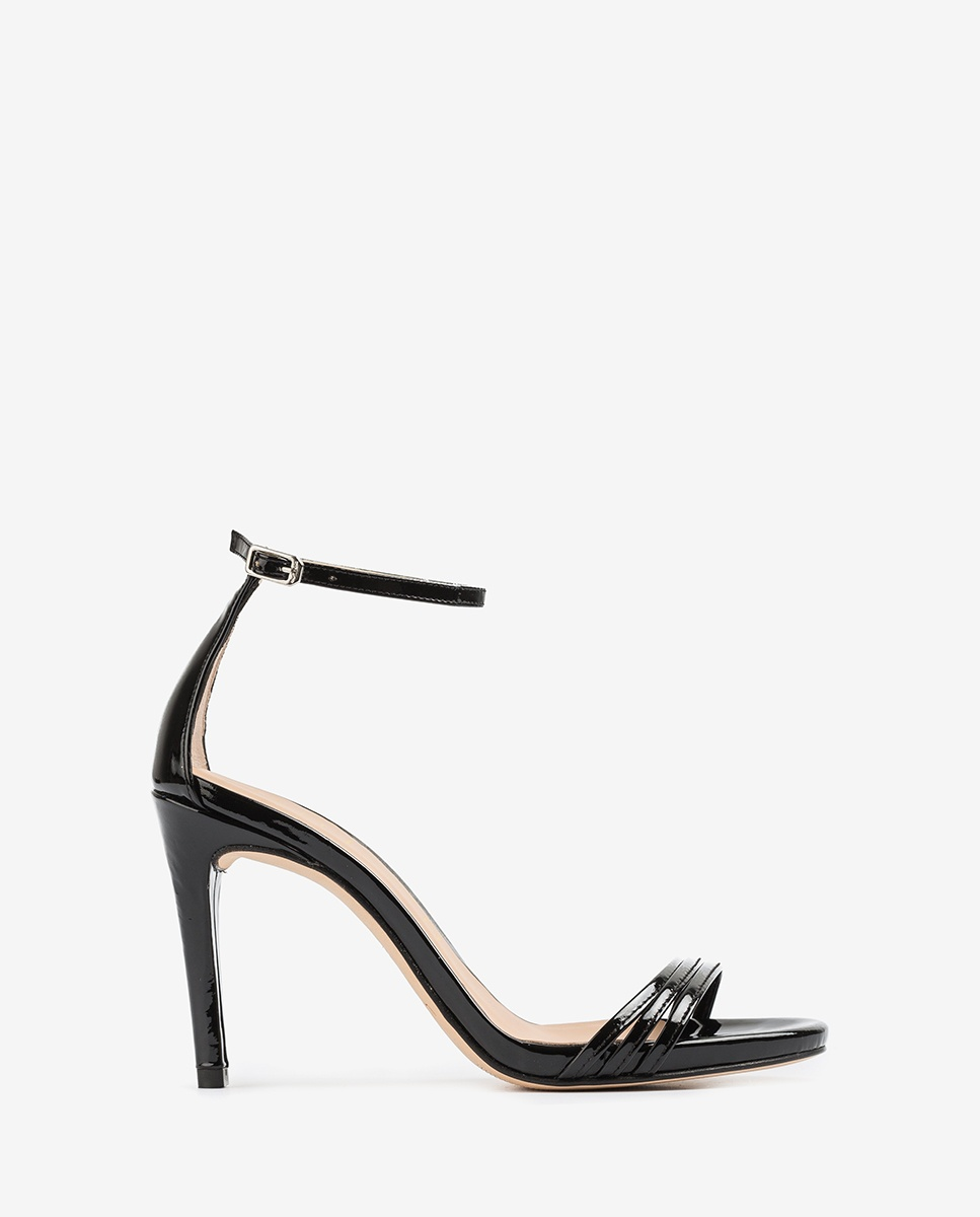 UNISA Black patent leather straps sandals YADIN_PA black 2