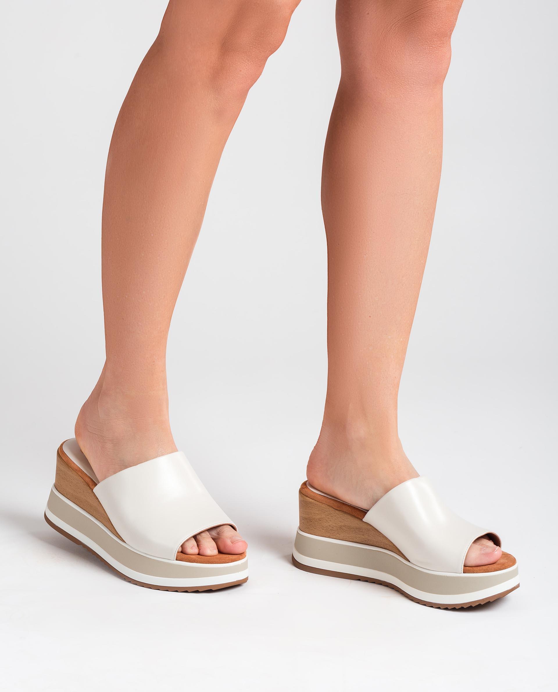 UNISA Leather wedge sandals KALANI_NA 2