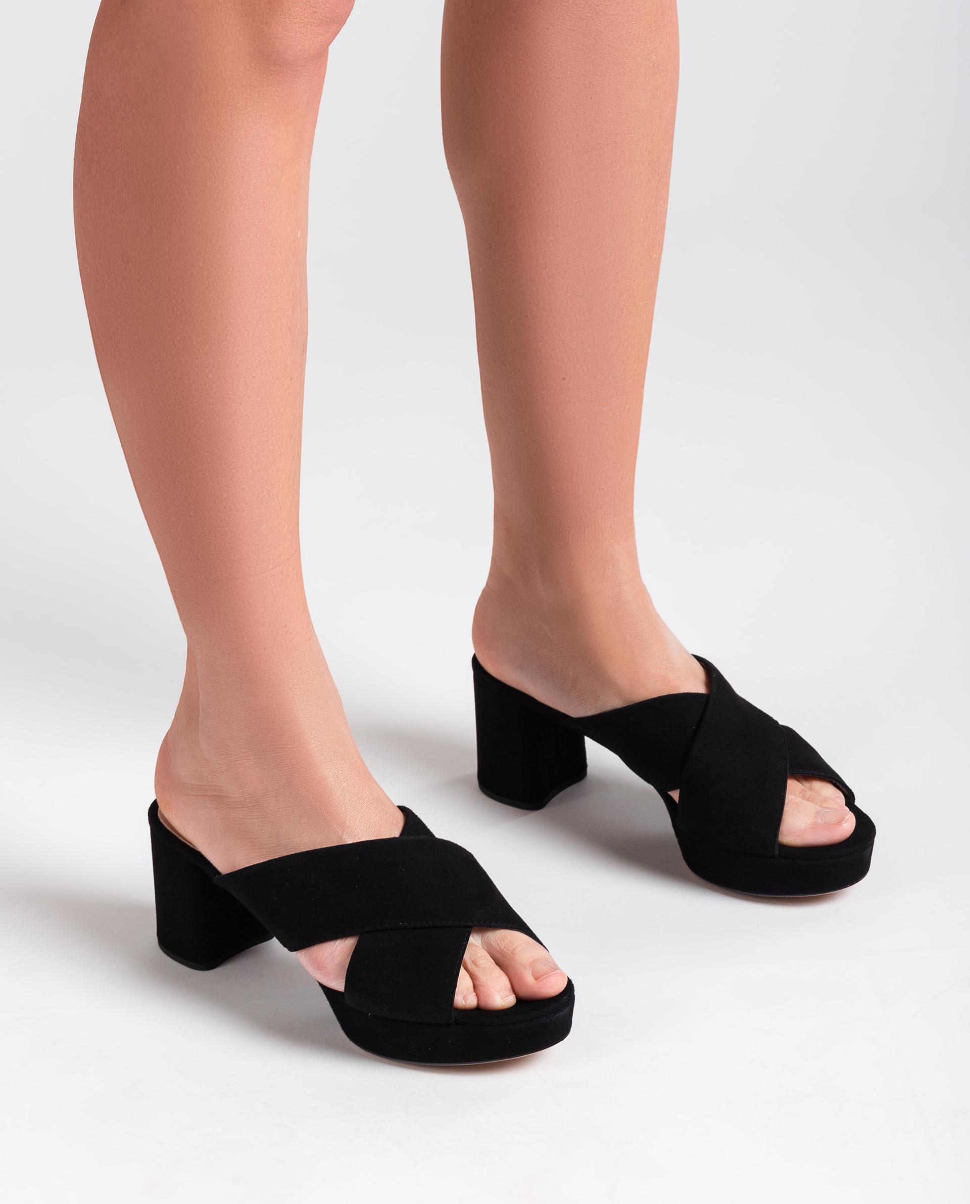 UNISA Kid suede slingback sandals NALINI_KS 2