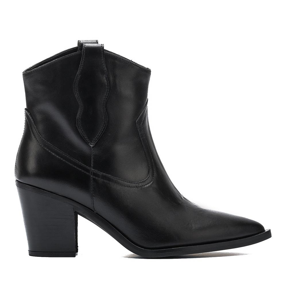 UNISA Black cowboy bootie MILCA_NE black 2