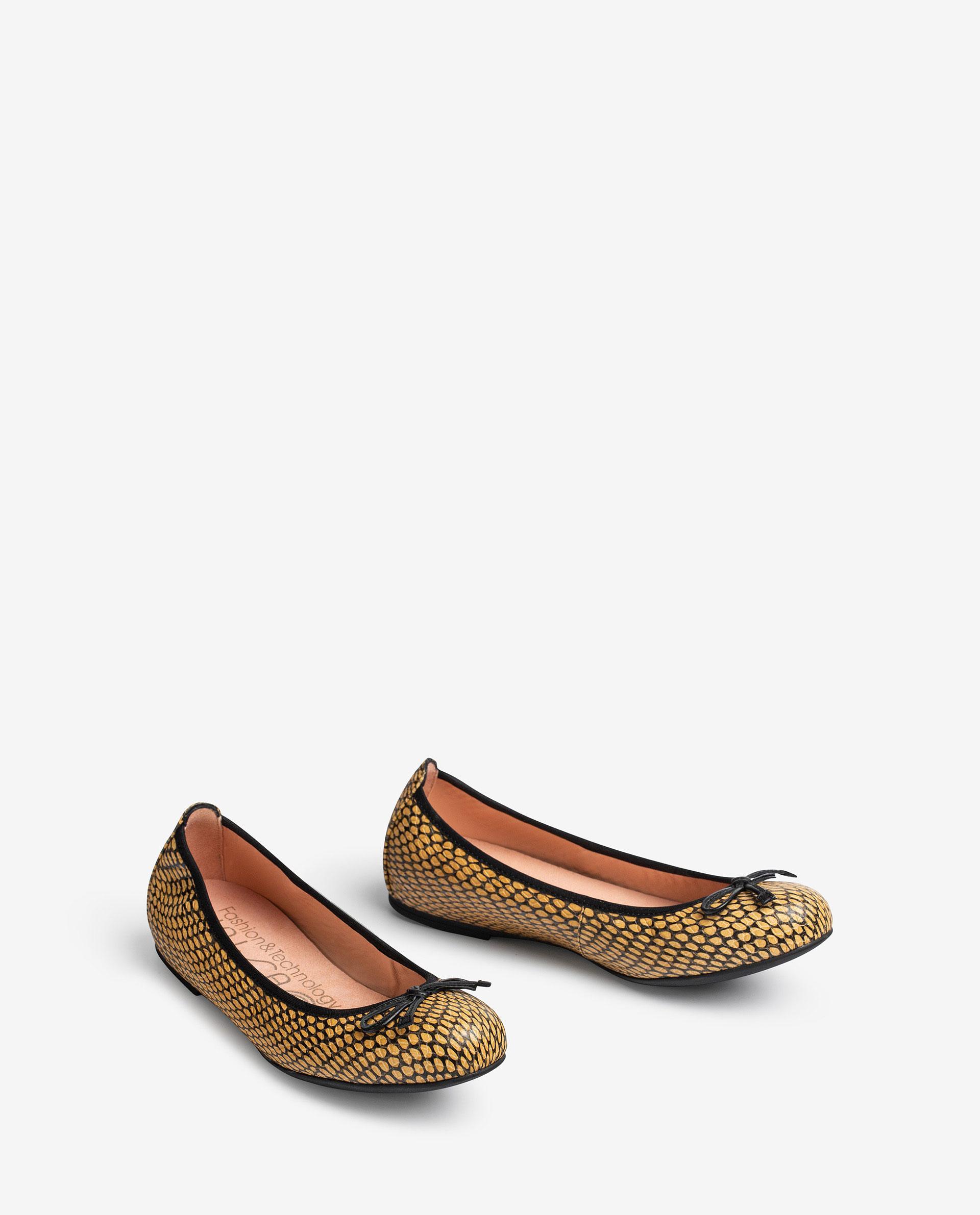 UNISA Snake effect leather ballerinas ACOR_21_MA 2