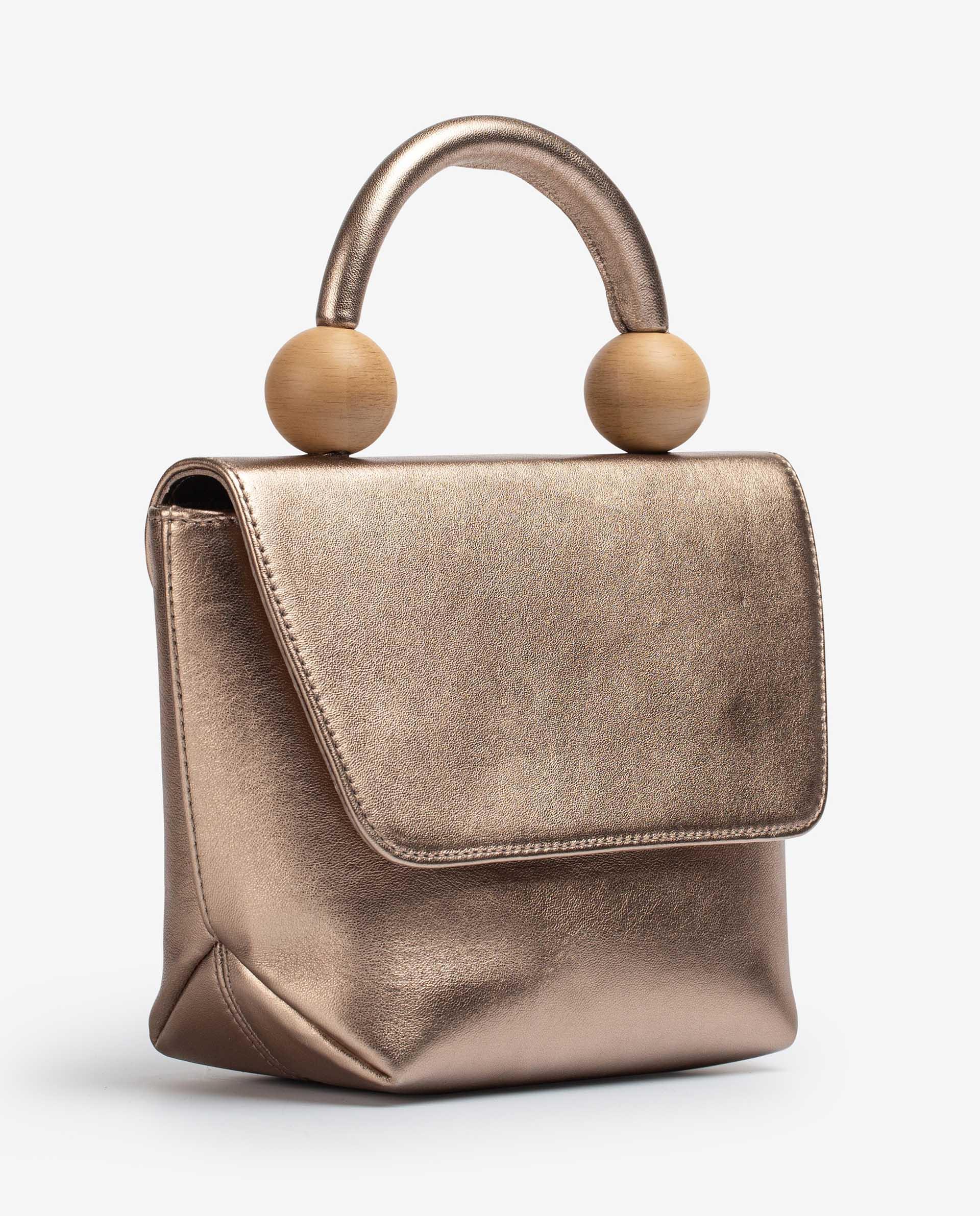 UNISA Handbag with wood effect ornament ZGILES_LMT 2