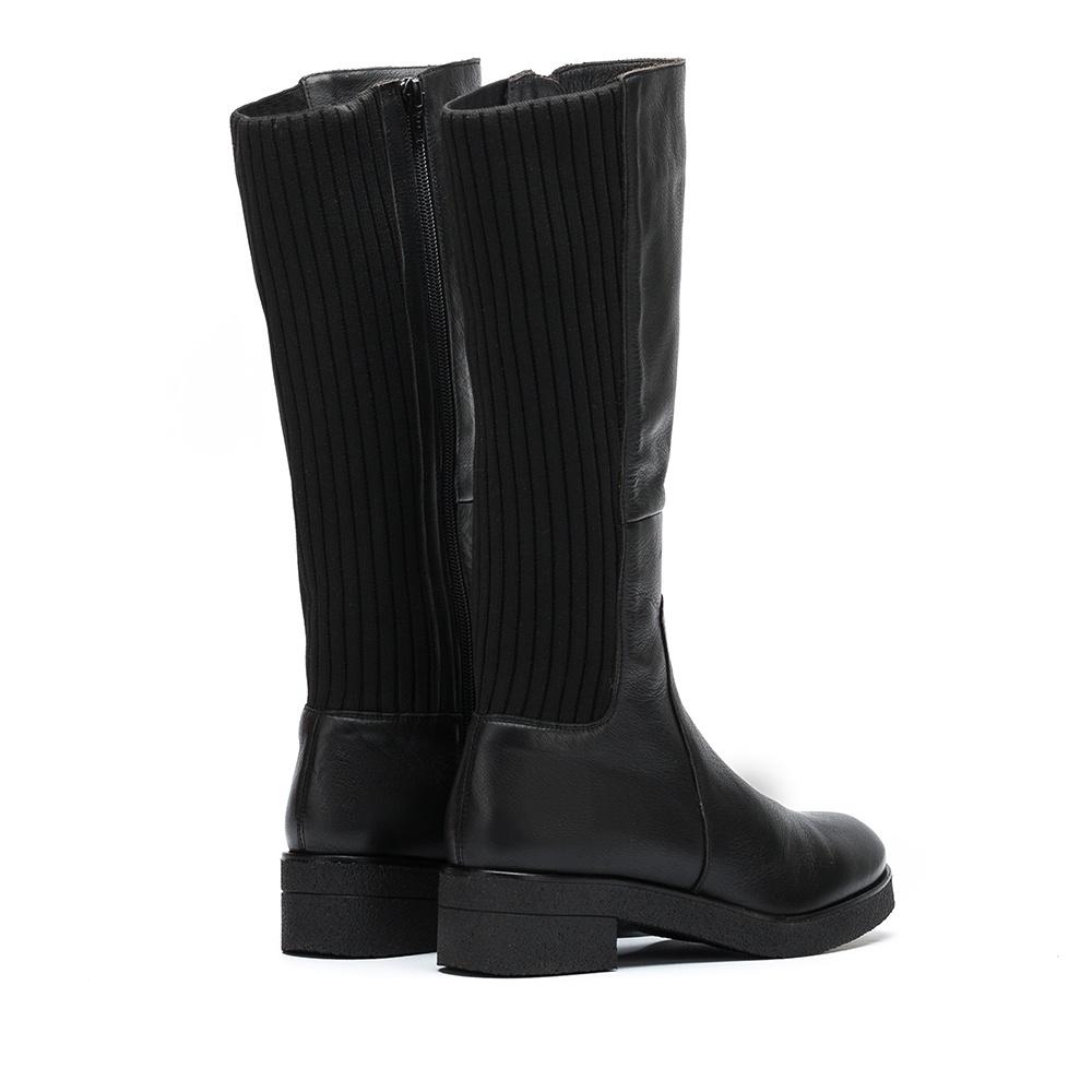 UNISA Leather booties sock contrast DOGUI_GLO black 2