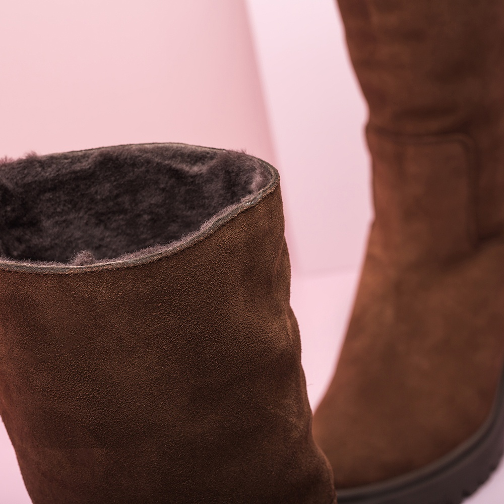 UNISA Track sole booties with interior fur JIMENO_BS livanto 2