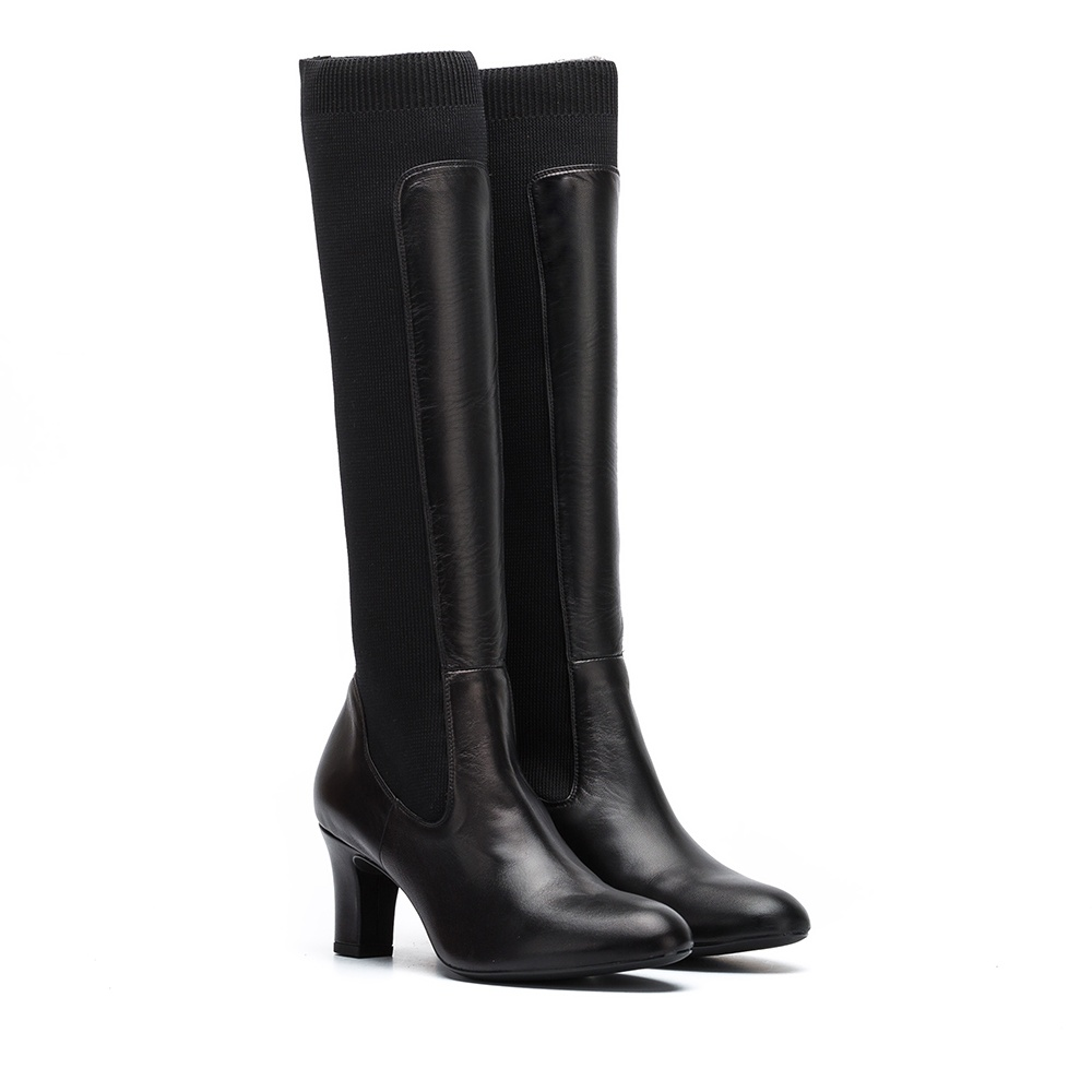 UNISA Ribbed sock contrast booties MAGE_NA black 2