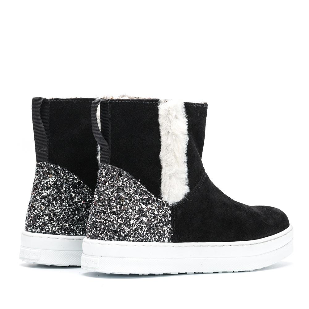 UNISA Heel glitter booties ALOMA_BS_GL black 2