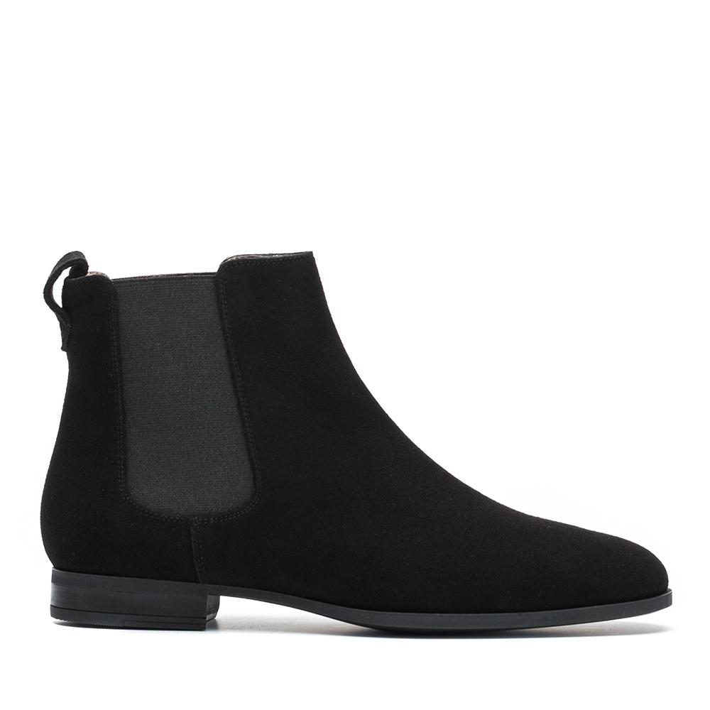 UNISA Kid suede booties elastics DIA_KS black 2