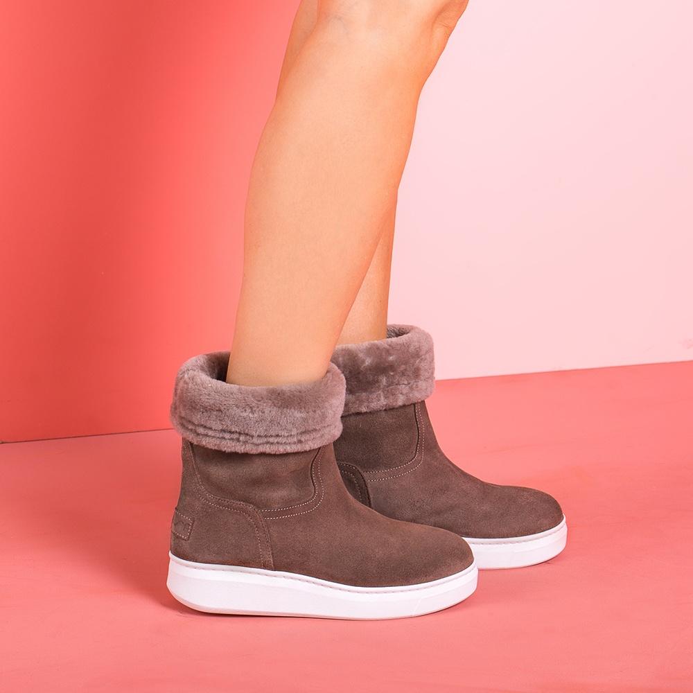 UNISA Grey booties fur lining FELIXE_BS taupe 2