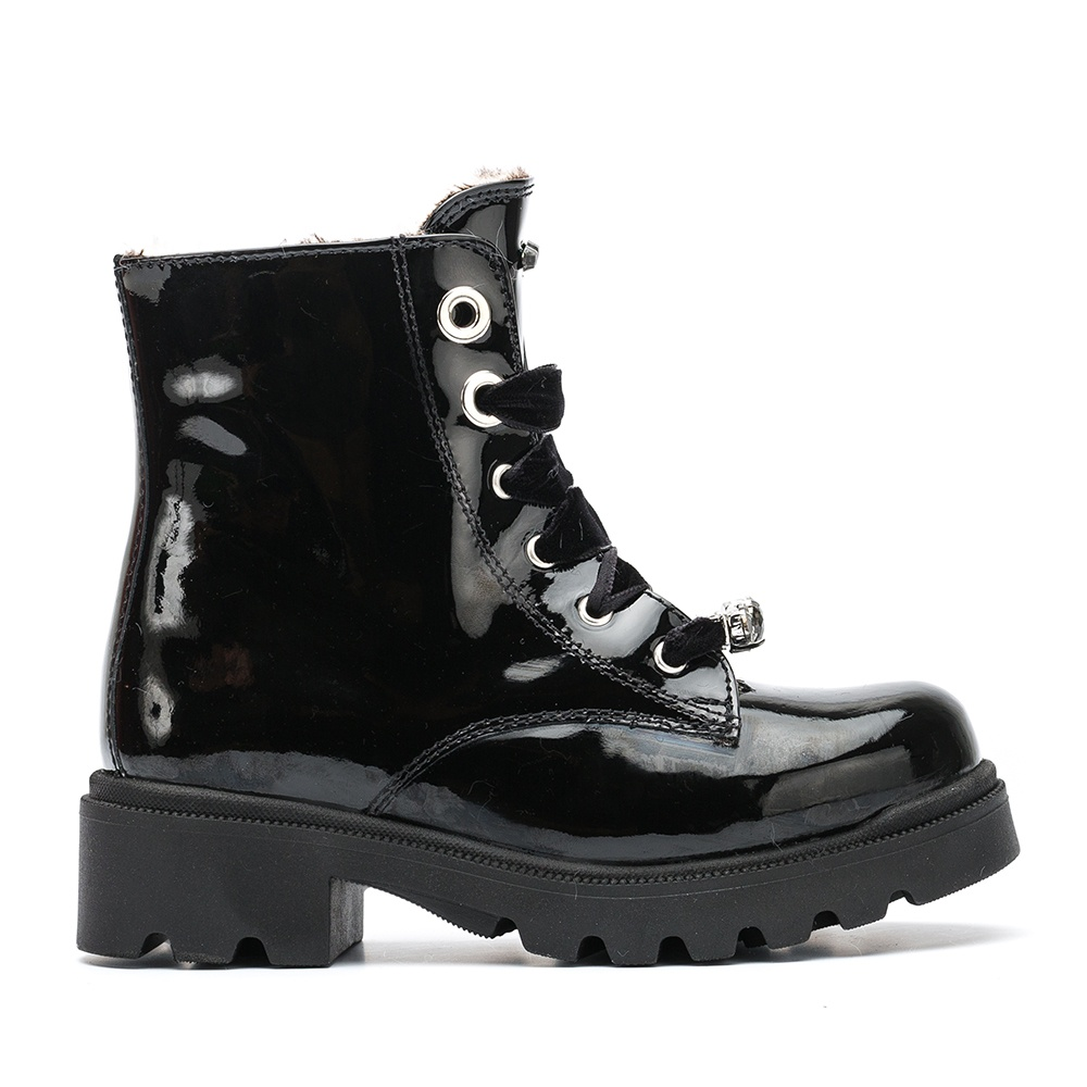 UNISA Little girl´s military style booties with front PENELOPE_PA black 2