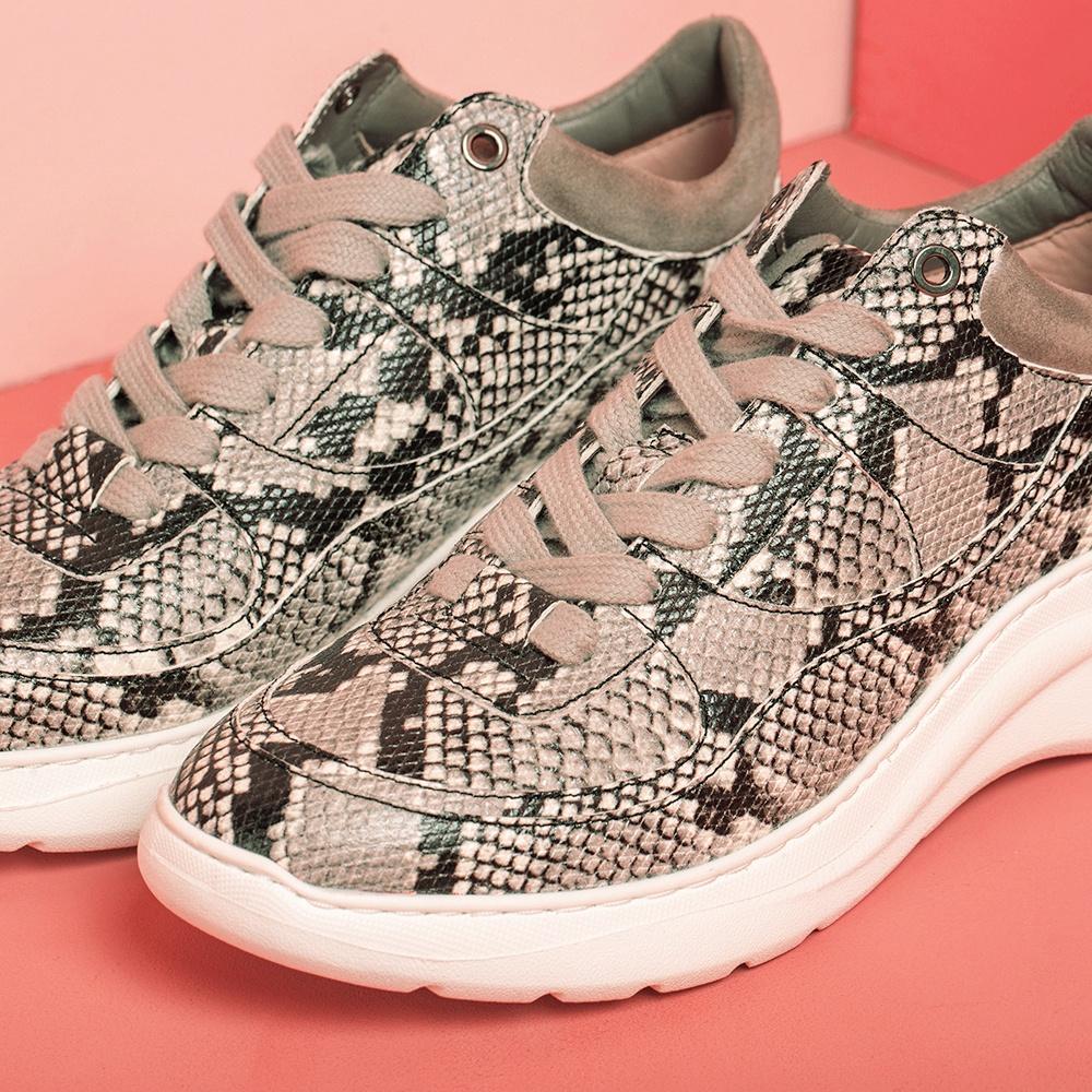 UNISA Animal print volume sneakers ESPE_VP_KS ivory/taup 2