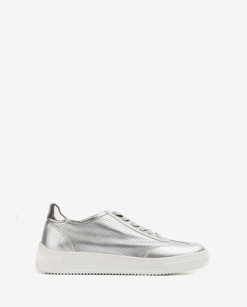 UNISA Perforated contrast sneakers FABIO_NF_SP silver 2