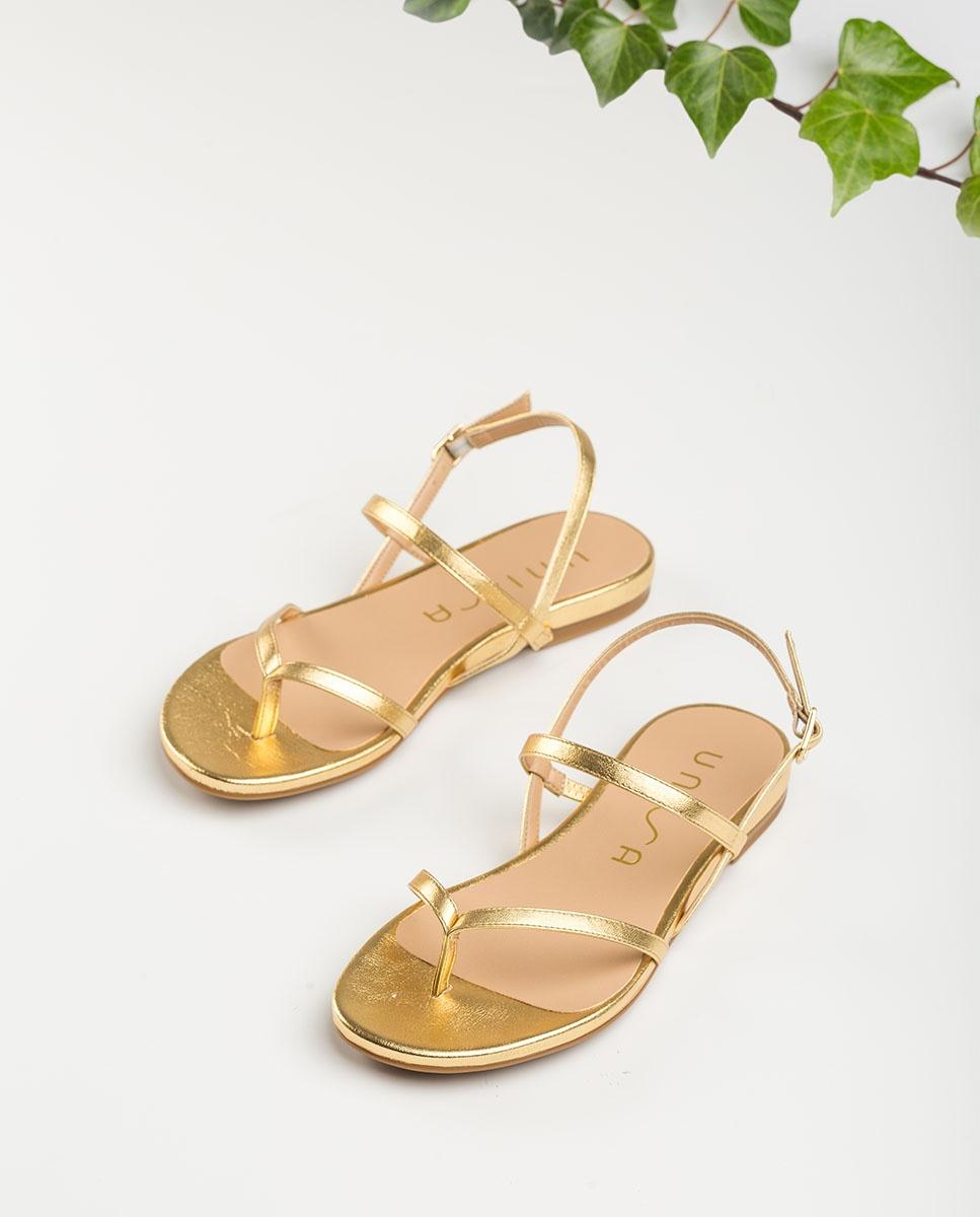Unisa Toe post sandals CISLA_LMT gold