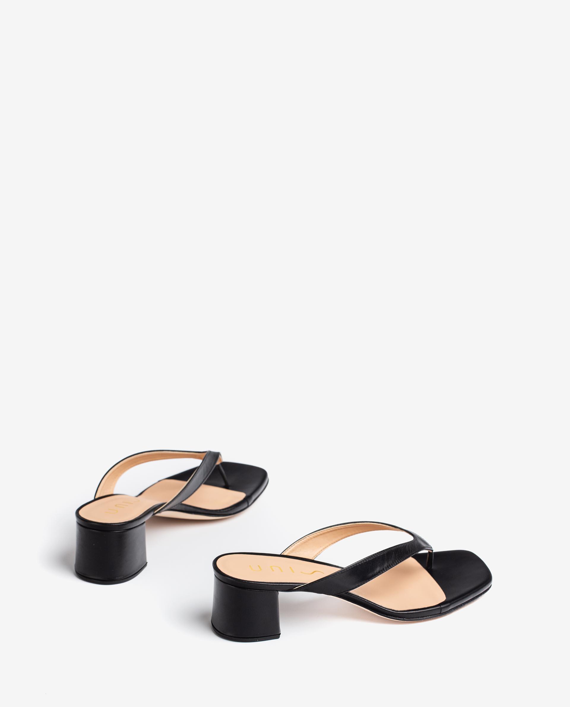 UNISA Leather thong sanals with square toe KOLMA_21_NA 2