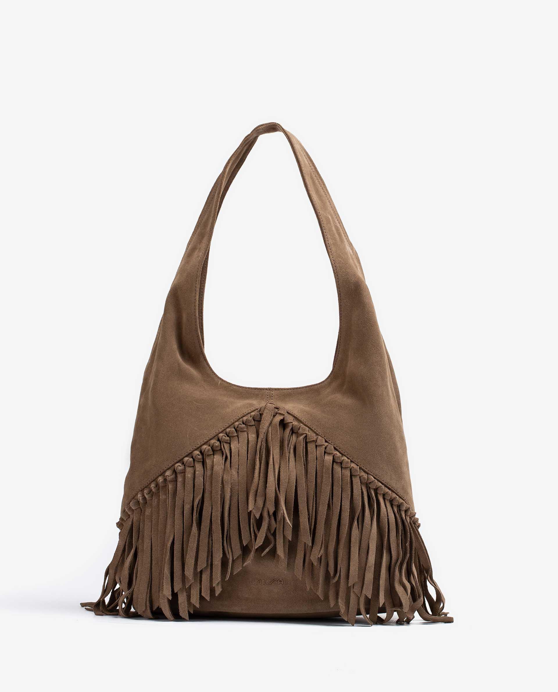 UNISA Bolso shopper con flecos ZISAURA_BS