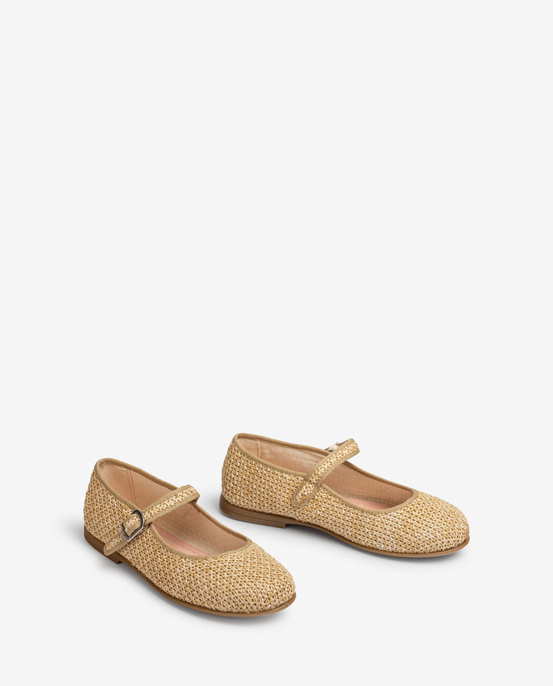UNISA Little girl´s raffia Mary Jane shoes SEYLA_21_RC 2