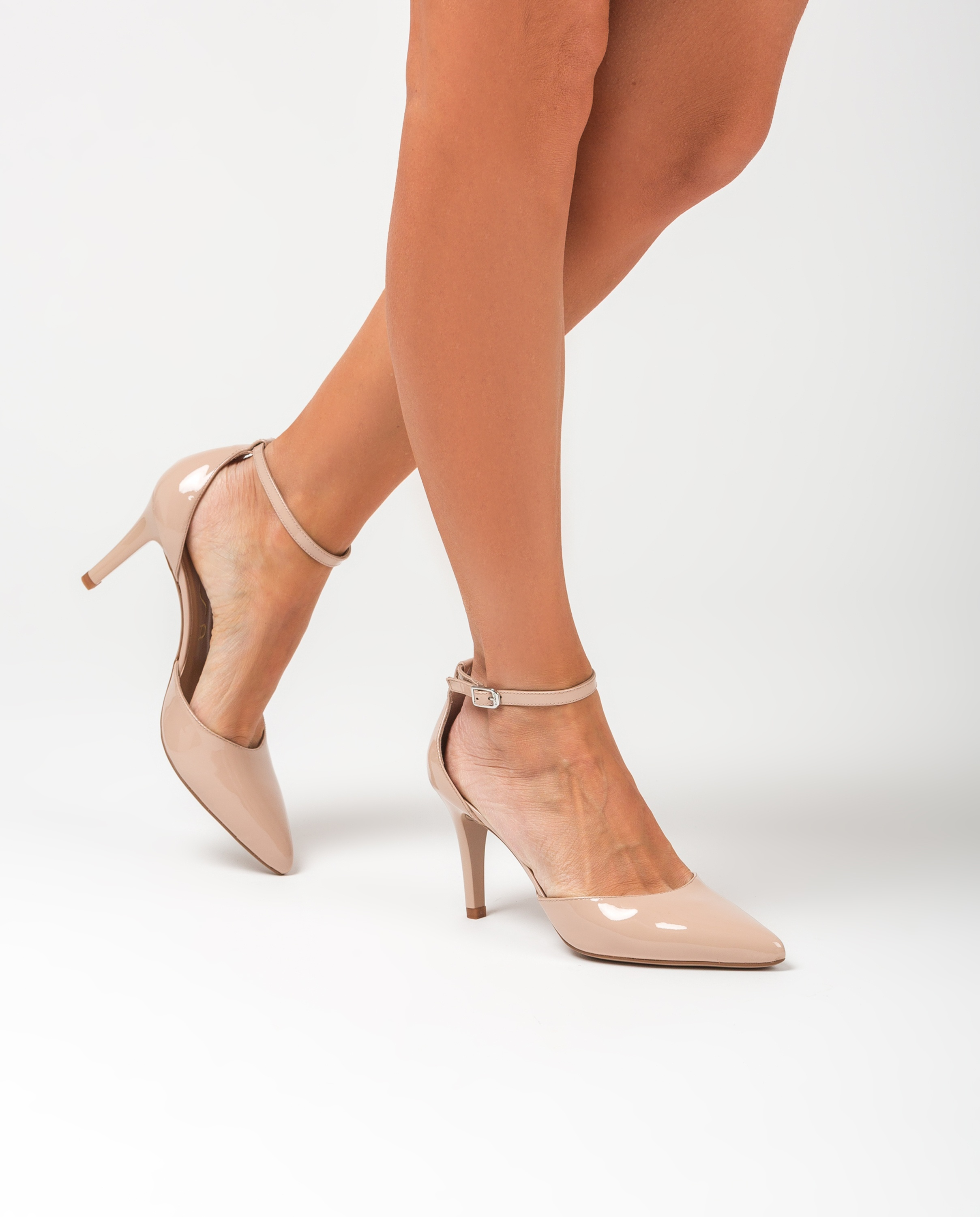 UNISA Pointy toe patent leather d´Orsay shoes TIRSU_PA nude 2