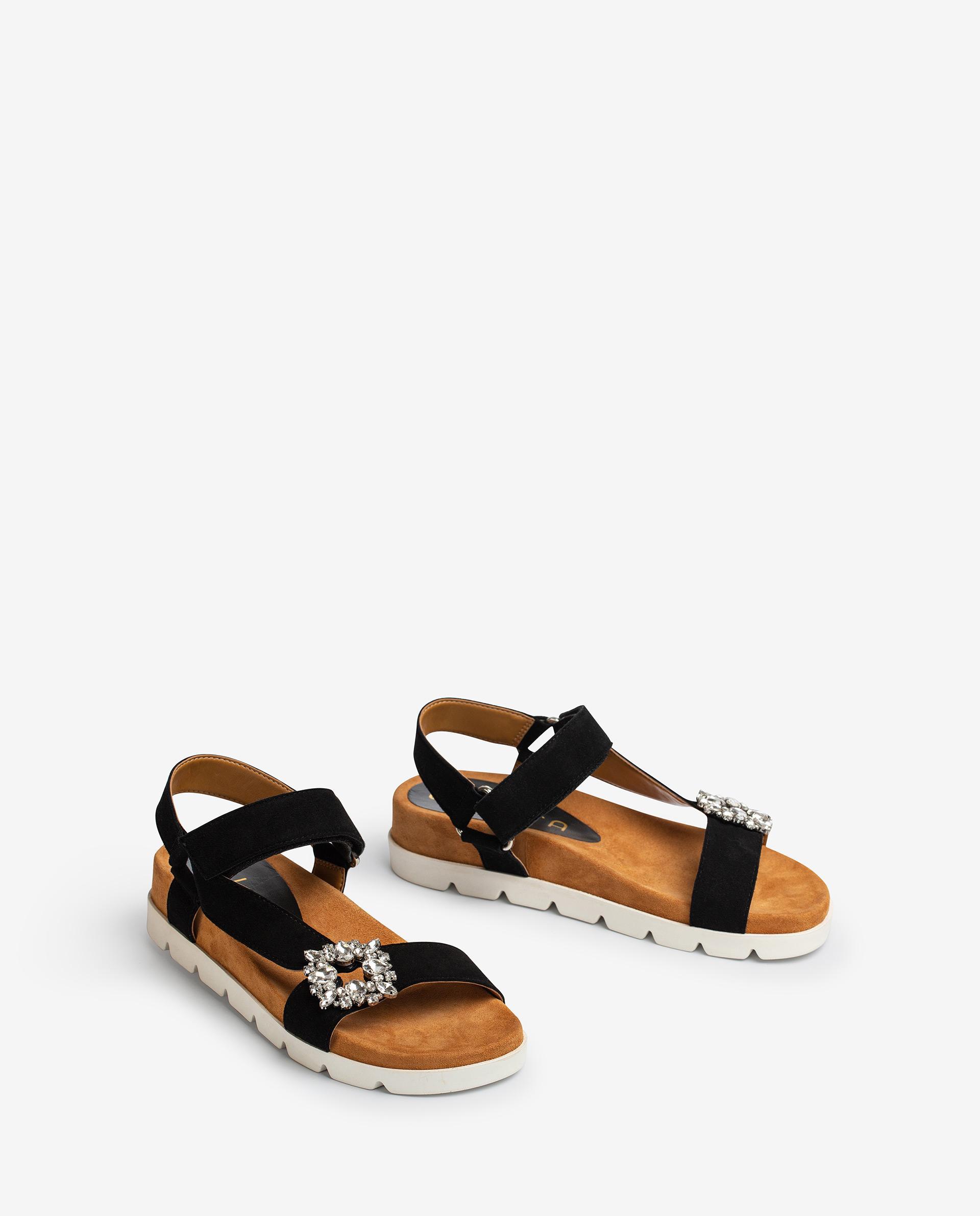 UNISA Kid suede sandals with hook and loop strap CICERO_KS 2
