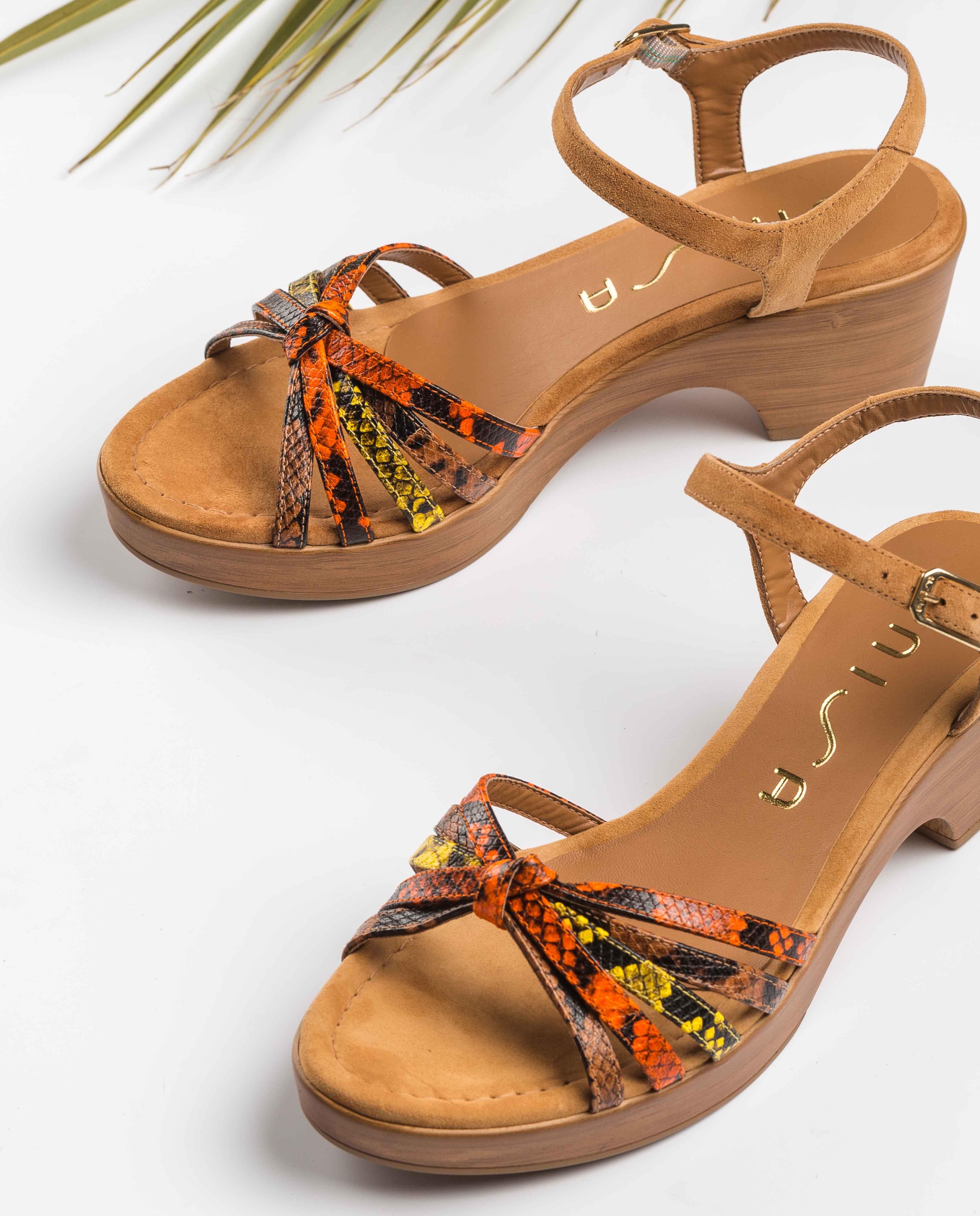 UNISA Snake multi-strap sandals IMMA_VIP_KS tek/man/ye 2