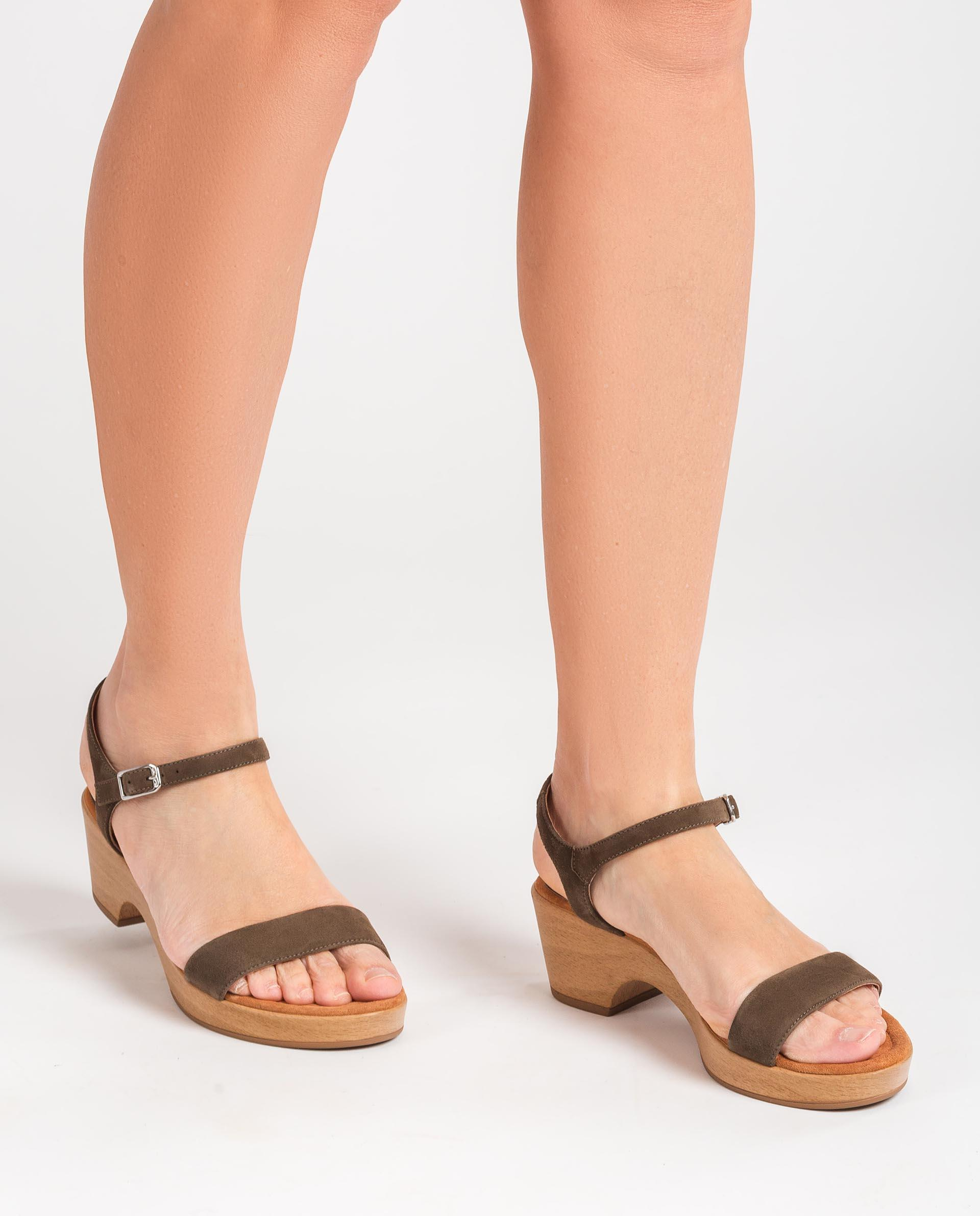 UNISA Kid suede block sandals IRITA_21_KS 2
