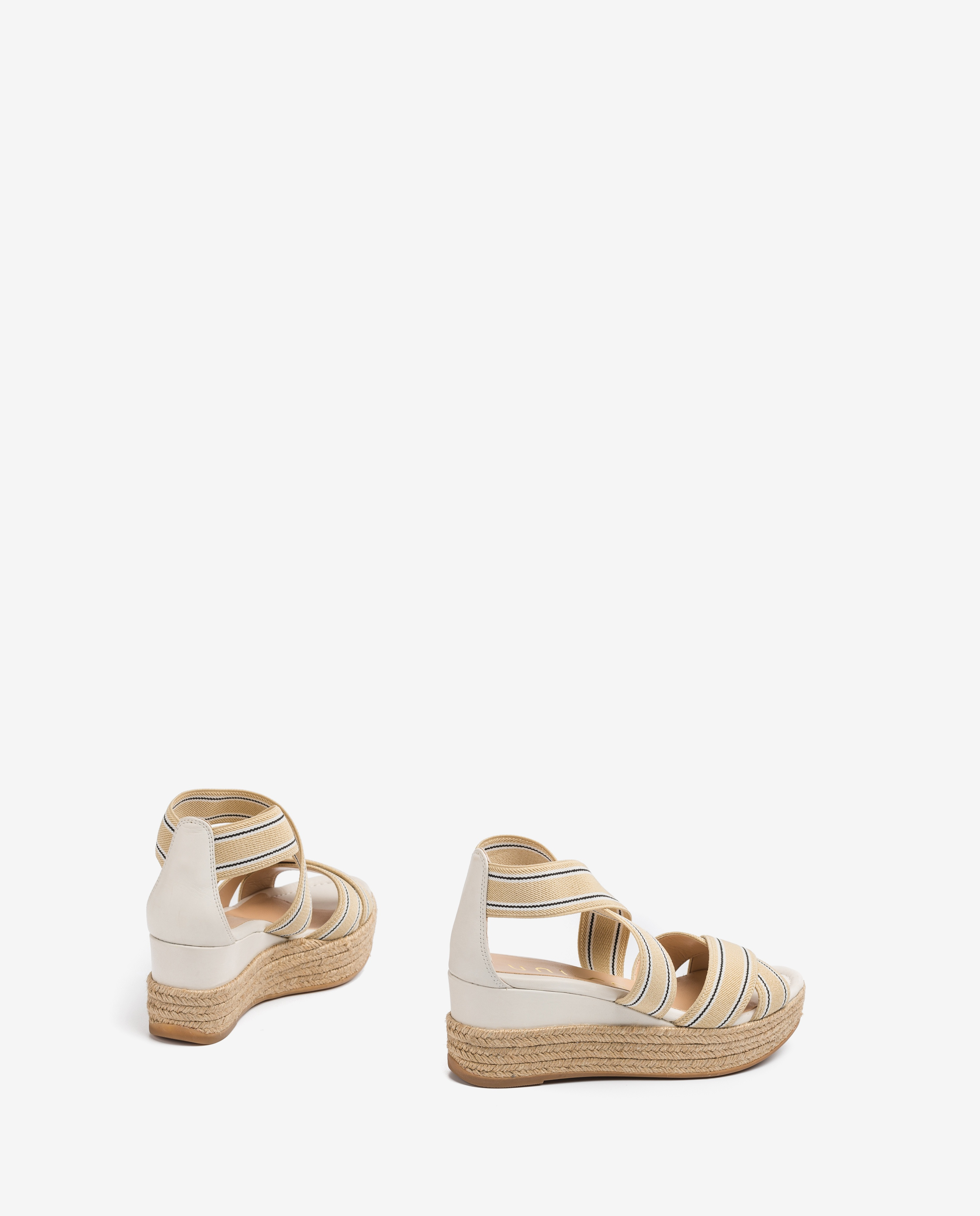 UNISA Striped straps sandals KADUR_CAN ivory 2
