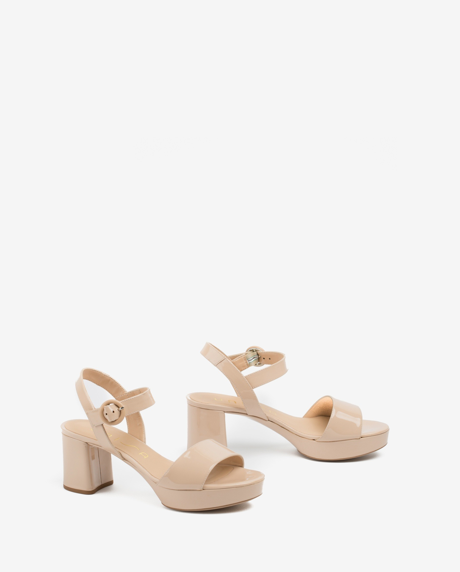 UNISA Platform patent sandals NENES_20_PA nude 2