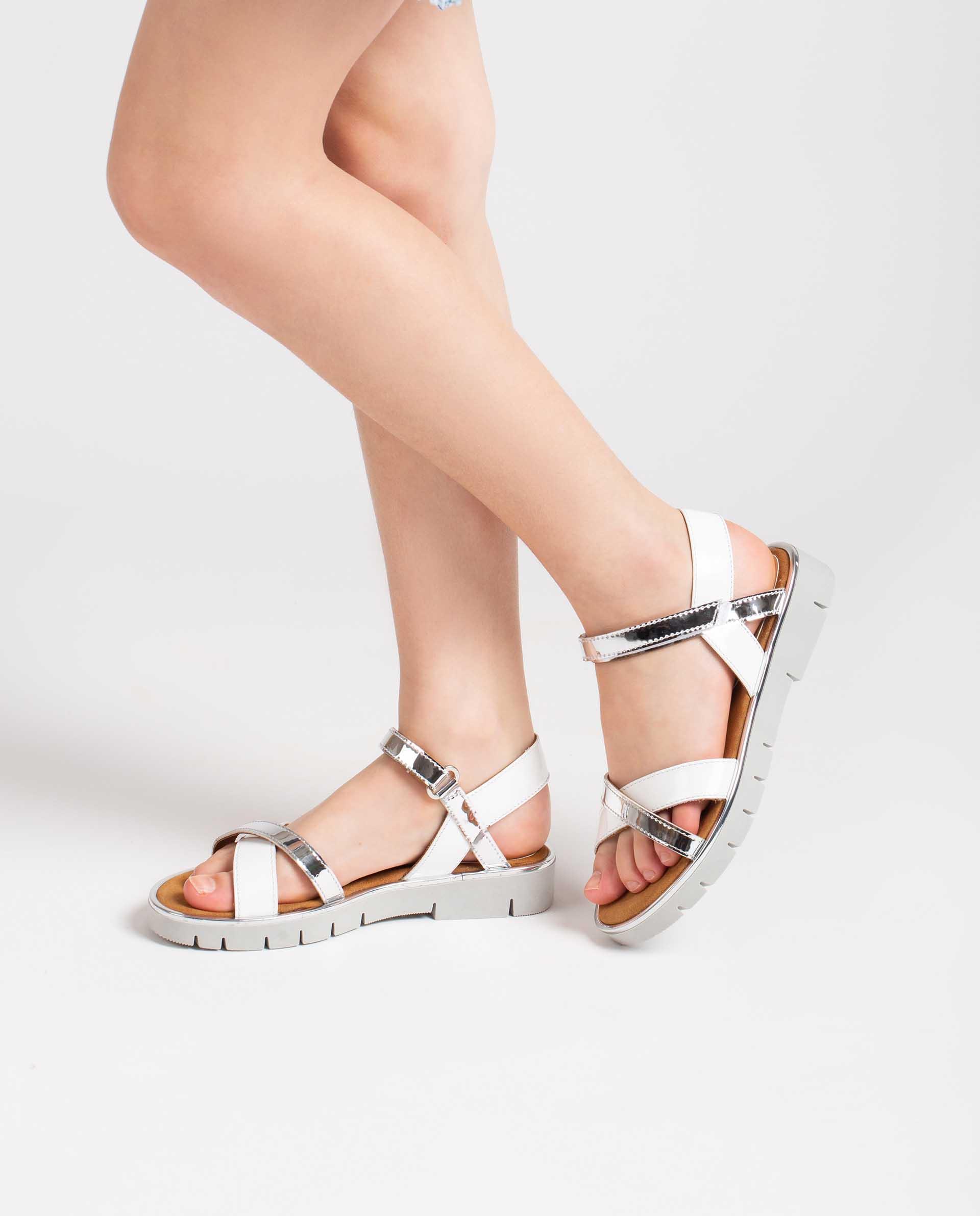 Unisa Sandals NEVIN_SP_PA SILV/WHITE