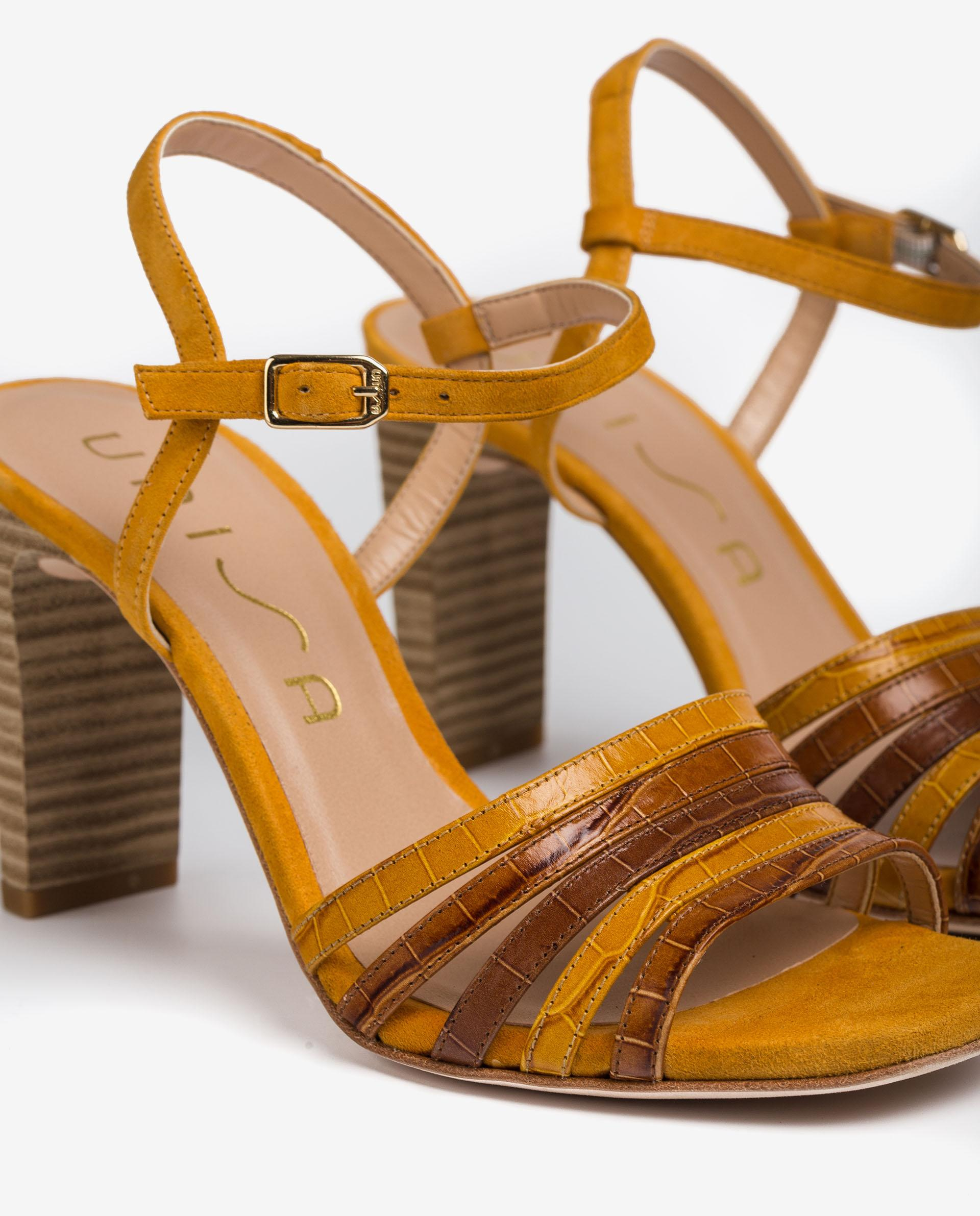 UNISA Contrast sandals with high heel SALDES_LAU_KS 2