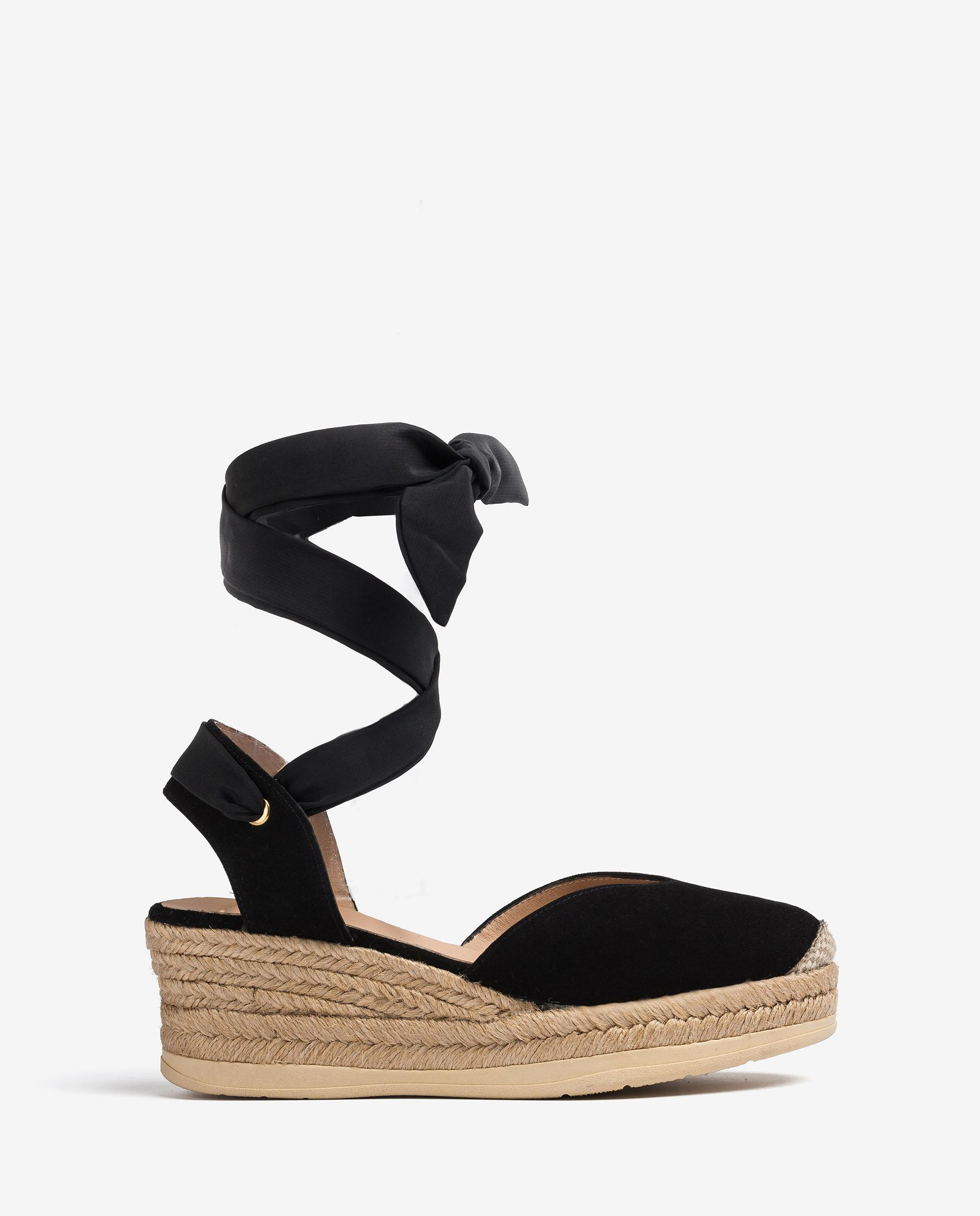 UNISA Kid suede espadrilles with ankle lacing knot CHOZA_KS 2