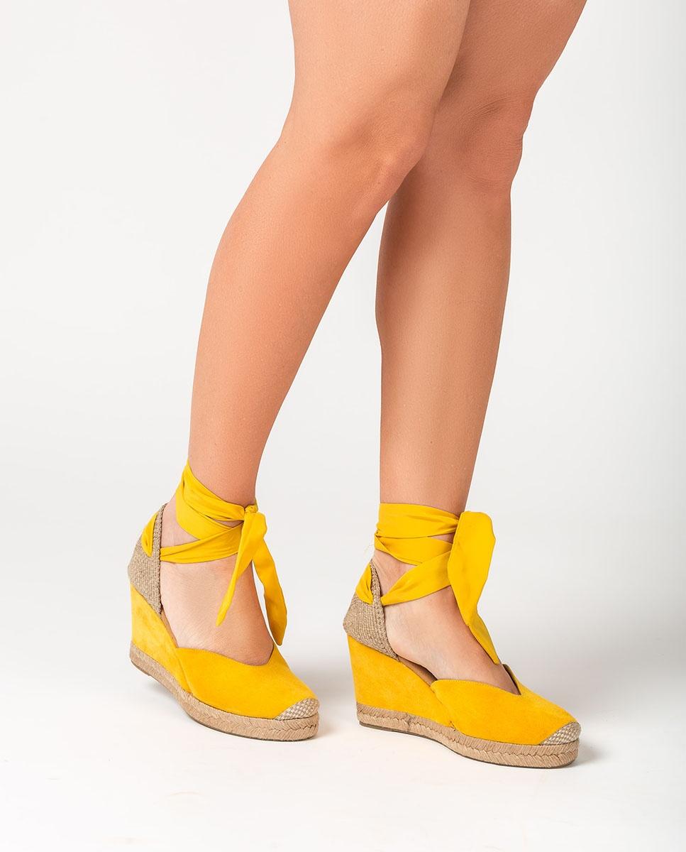 UNISA Bow wedge espadrilles CHUFY_KS limone 2