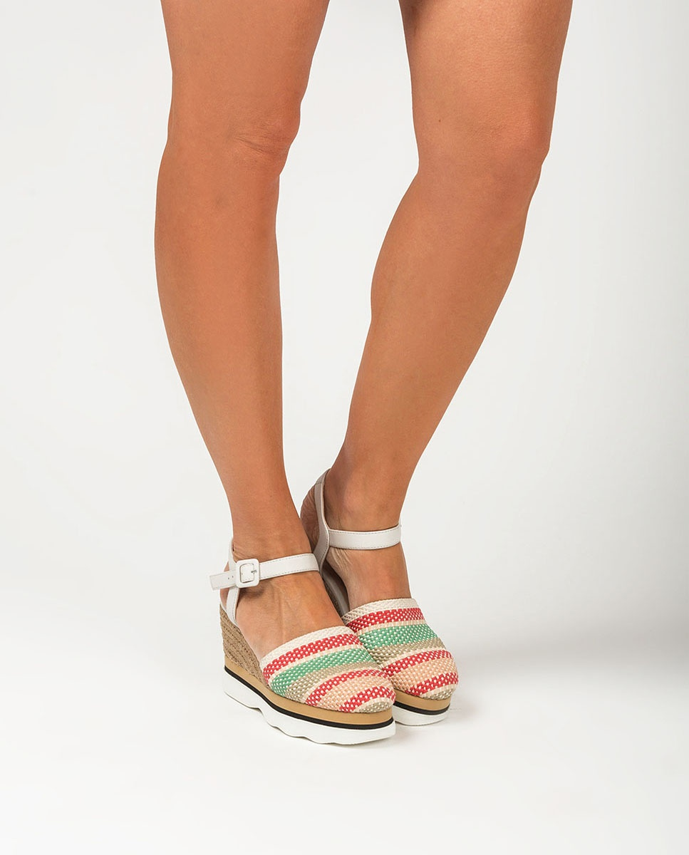 UNISA Contrast espadrilles braided cords LEIDA_CAN ivory 2