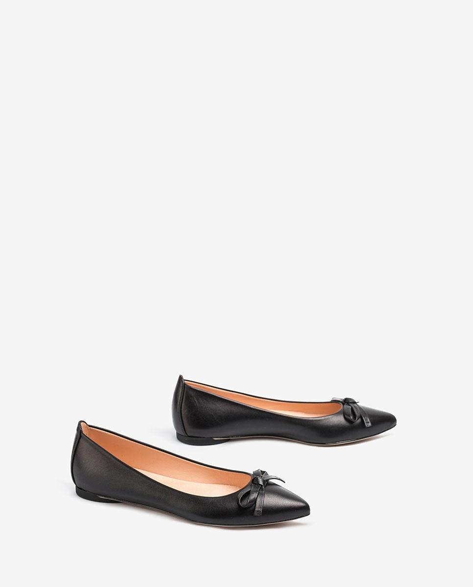 UNISA Pointy toe leather ballerinas ABENO_21_NS 2
