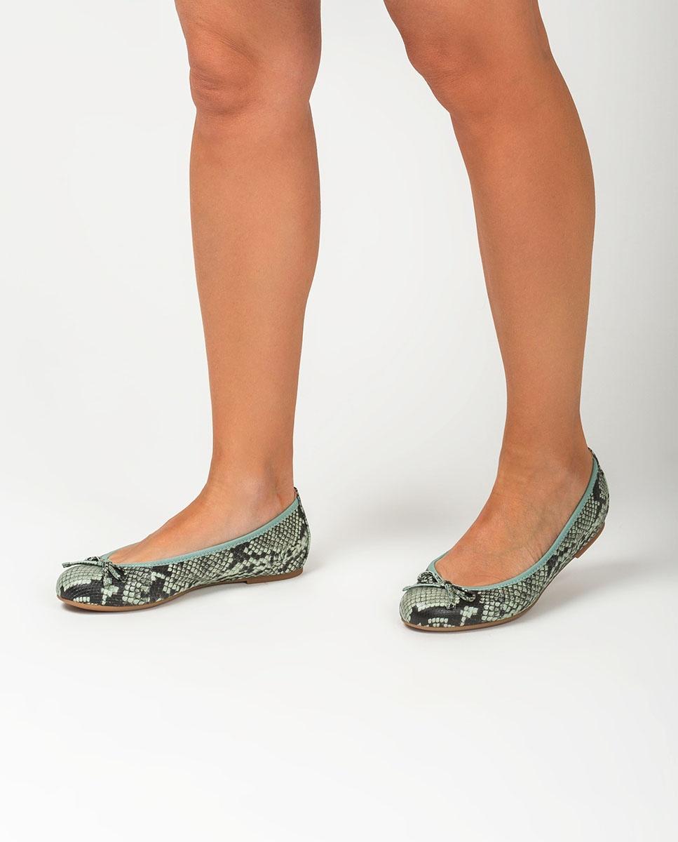 UNISA Snake effect leather ballerinas ACOR_20_VIP mint 2