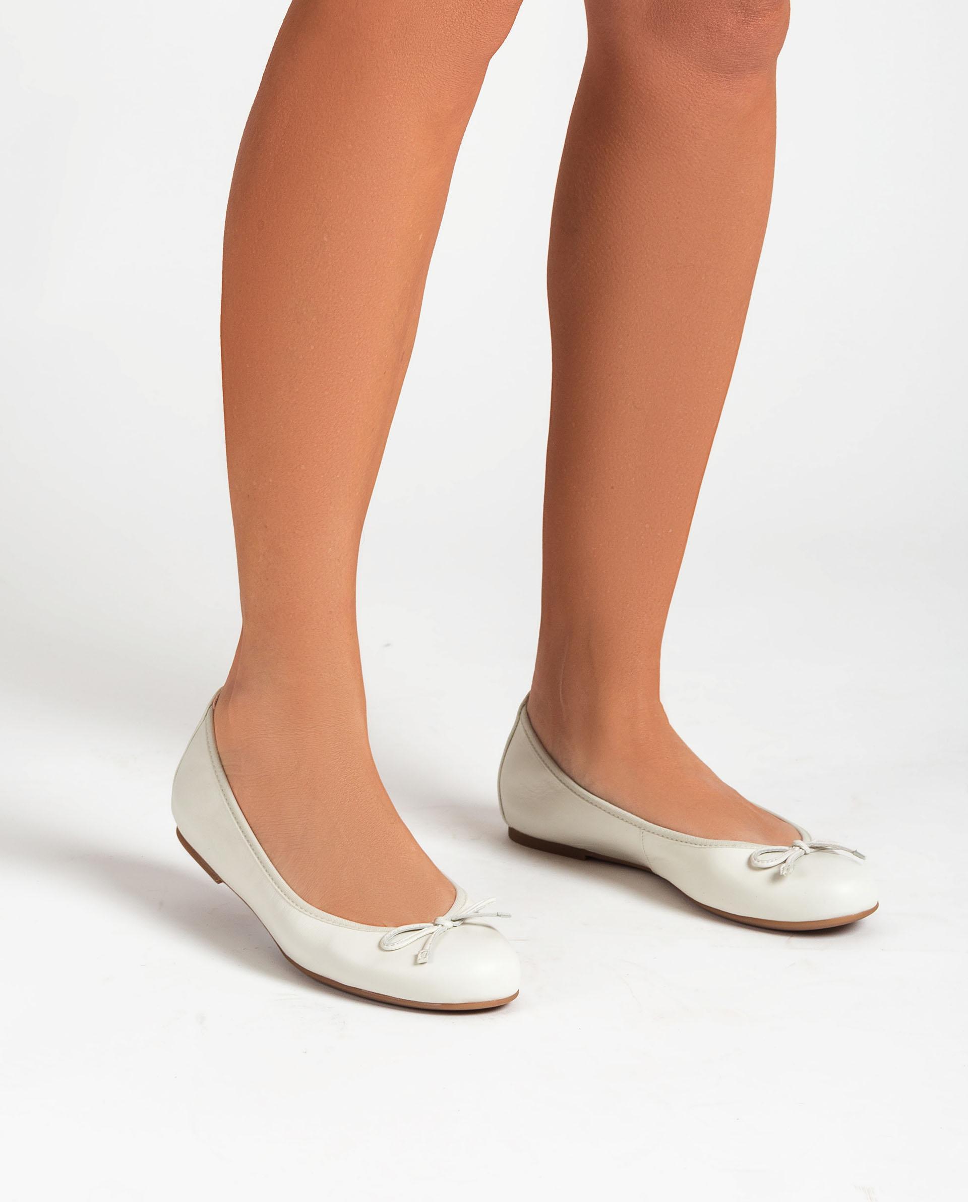 UNISA Leather ballerinas embellished with bow ACOR_21_NS 2