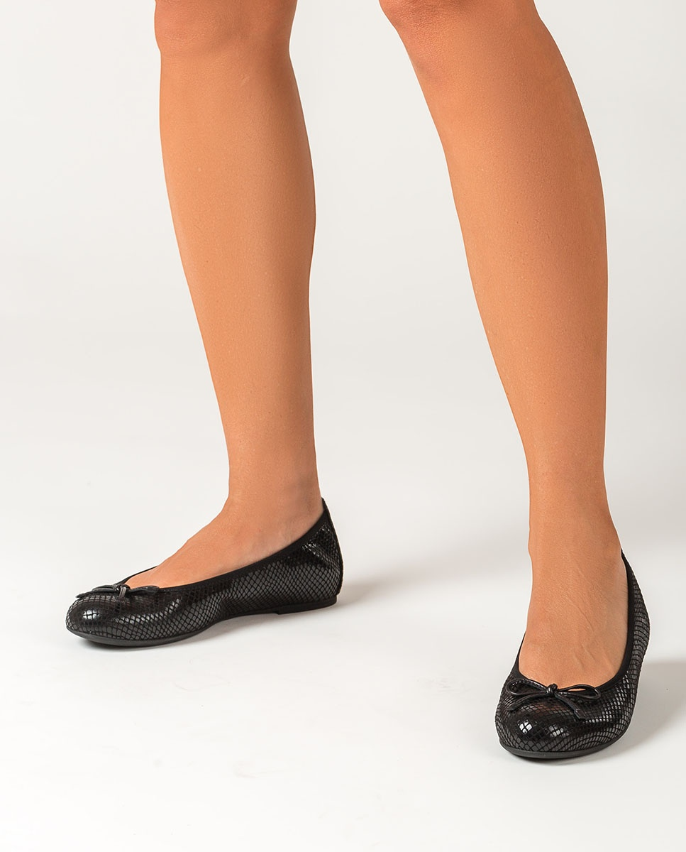 UNISA Black flat ballerinas ACOR_F20_STPY black 2