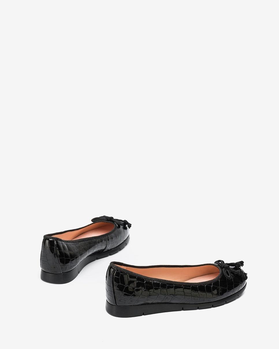 UNISA Croc effect patent leather ballerinas ALCOT_F20_CSH black 2