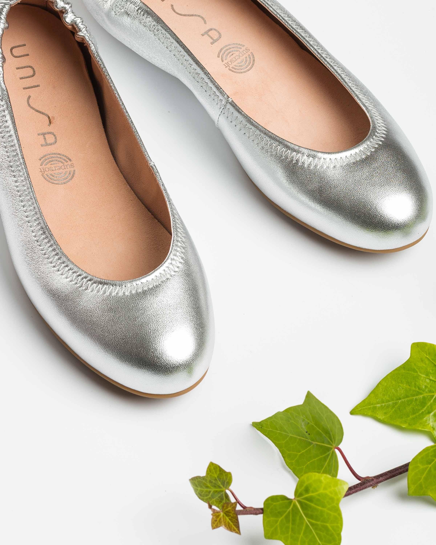 UNISA Silver ballerinas ALIMA_LMT silver 2