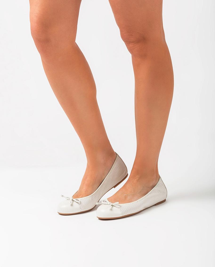 UNISA Perforated leather ballerinas ARMAS_NS ivory 2
