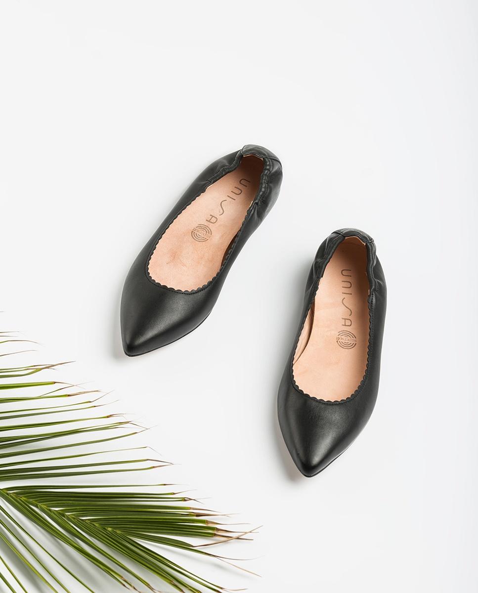 UNISA Pointy toe leather ballerinas ASPAS_NS black 2