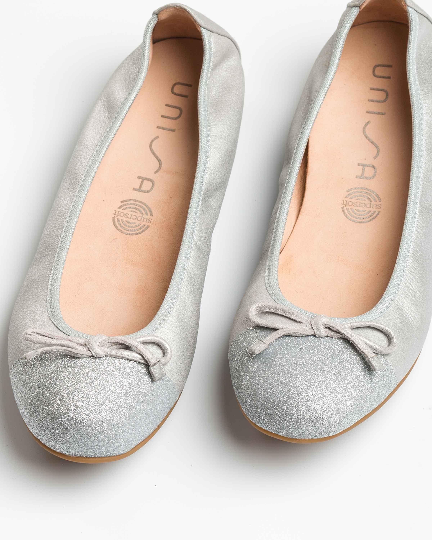 UNISA Silver contrast ballerinas AUTO_20_MTS_SI silver 2