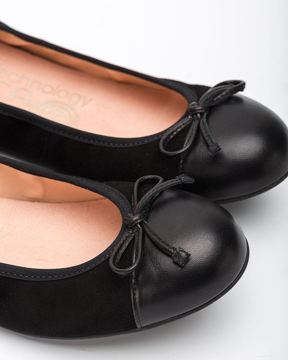 UNISA Flat contrast ballerinas AUTO_F20_KS_NA black/blk 2