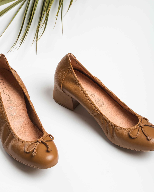 UNISA Leather heel ballerinas LACOR_20_NS bisquit 2
