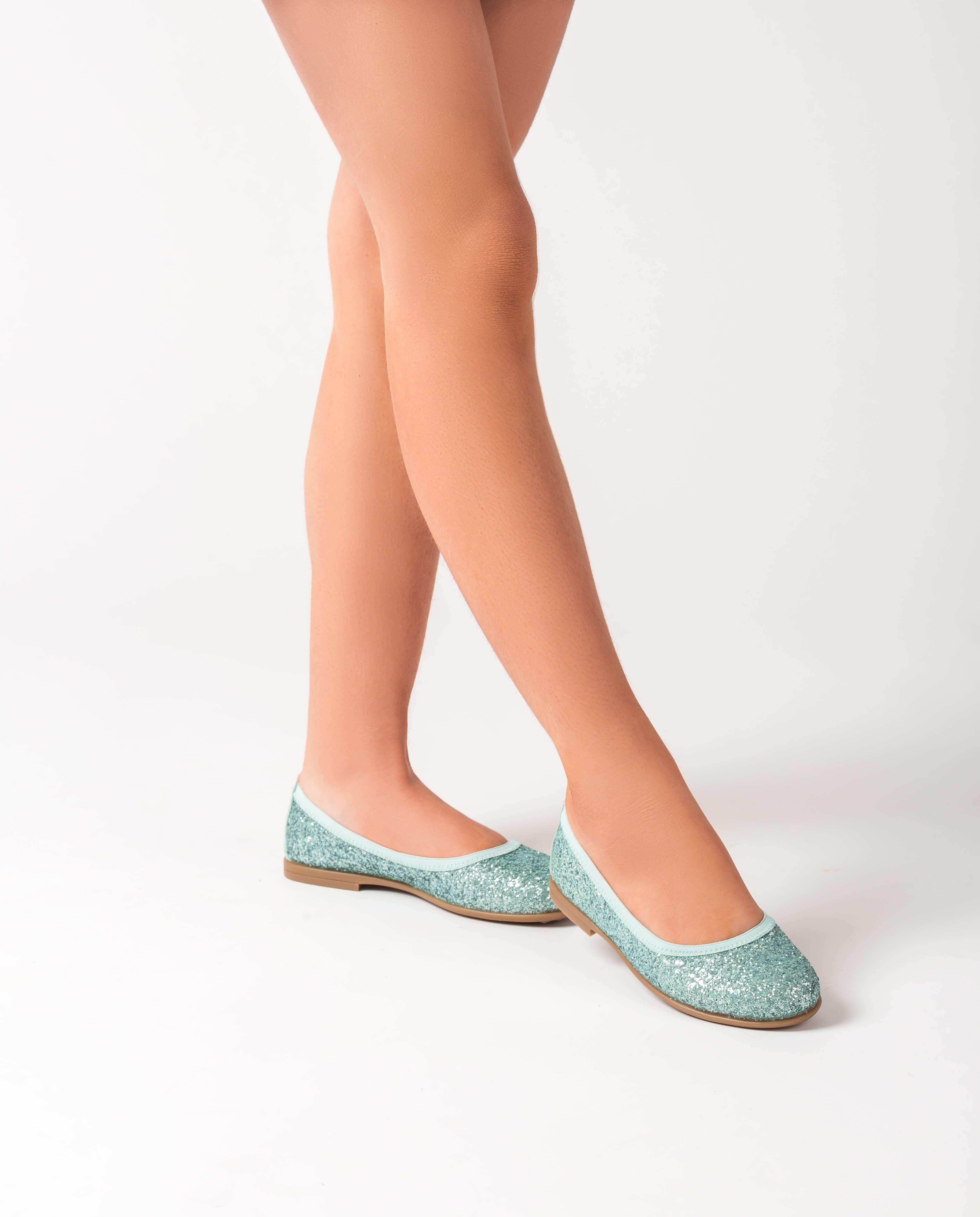 UNISA Little girl glitter ballerinas SABRINA_20_GL mint 2